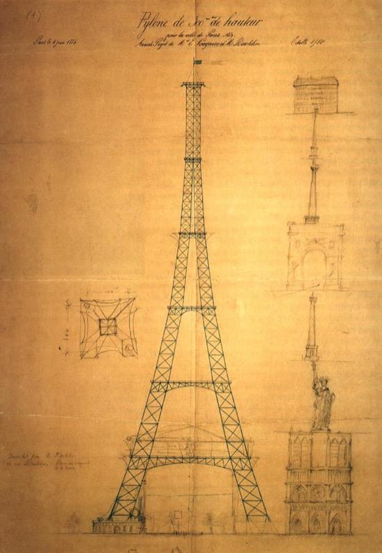 Fotos del proceso de construcción de la torre Eiffel