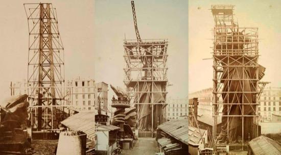 Varias fotos del proceso de construcción