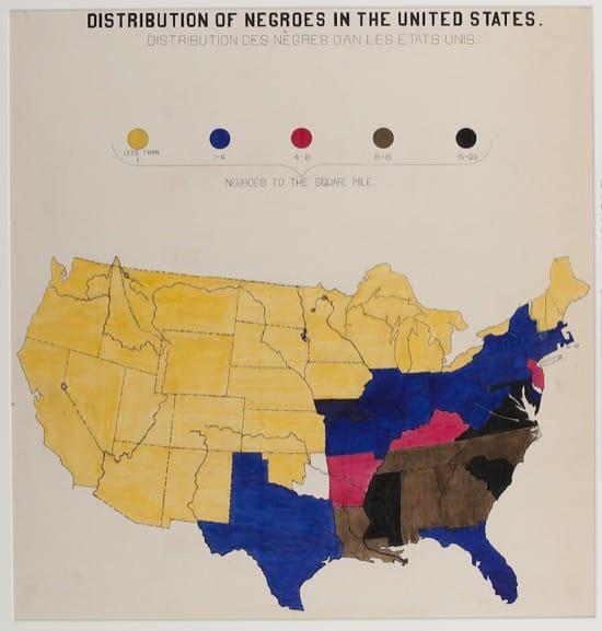 Distribución de los negros en Estados Unidos