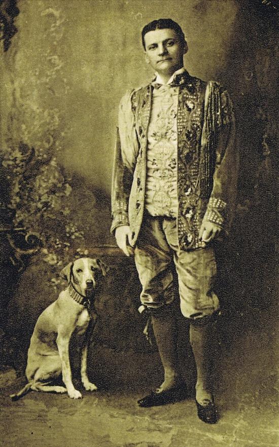 El Gran Lafayette y su perra Beauty