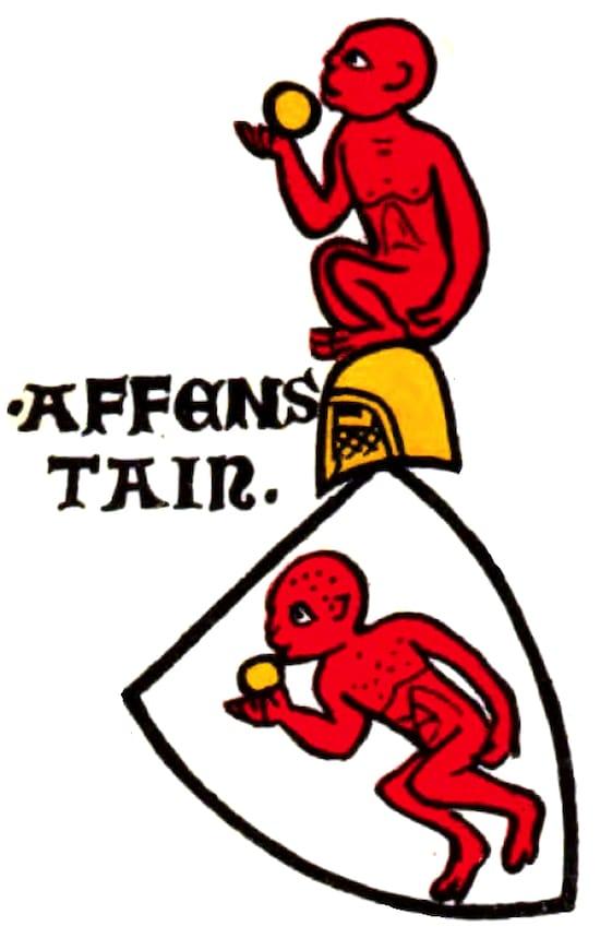 Escudo de armas de una rama de los Affenstein