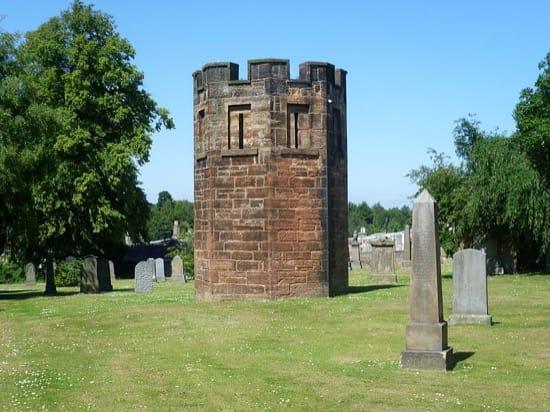 Torre de vigilancia en un cementerio, de nuevo Edimburgo