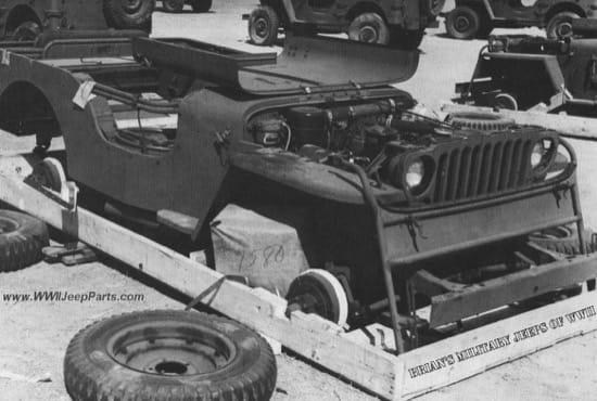 El sorprendente empaquetado y transporte de los Jeeps en la Segunda Guerra Mundial