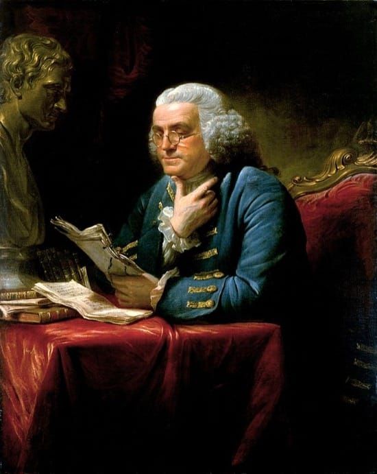 Benjamin Franklin, los pedos, la orina y los espárragos
