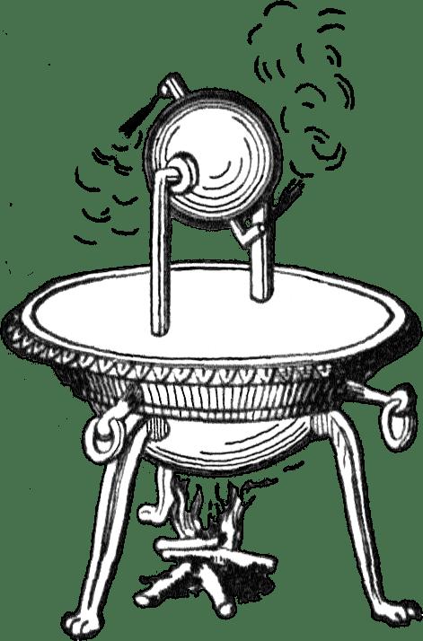 Diseño del aelópilo de Herón de Alejandría