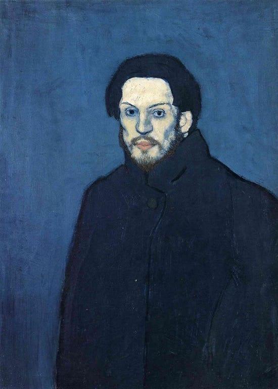 Autorretrato de Picasso en 1901, con 20 años