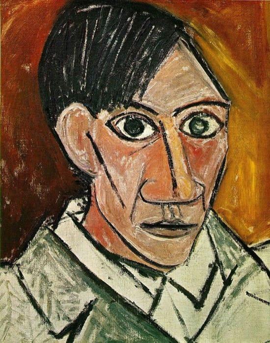 Autorretrato de Picasso en 1907, con 25 años