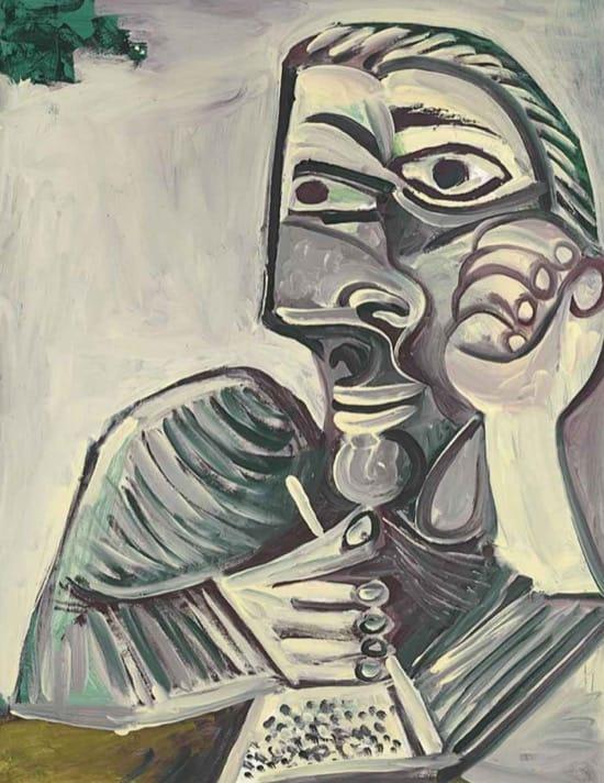 Autorretrato de Picasso en 1971, con 89 años