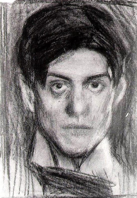 Autorretrato de Picasso en 1900, con 18 años