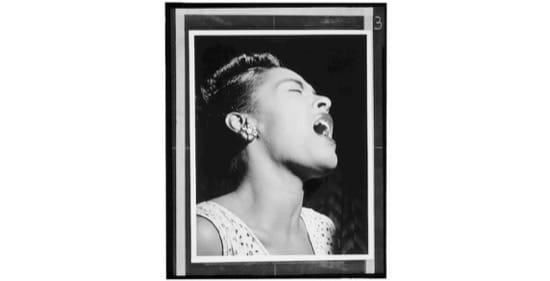 Retrato de Billie Holiday. 1947. Foto de William P. Gottlieb