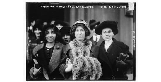 La sufragista y activista, Flora Dodge, en 1913.