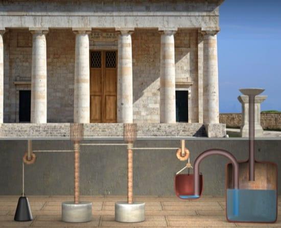 Herón de Alejandría y la genial idea de las puertas automáticas