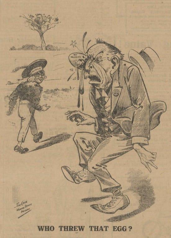 Lanzar huevos a los políticos, una costumbre muy antigua