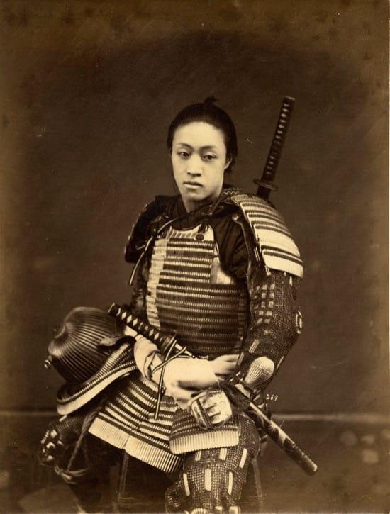 Fotos históricas de samuráis reales 4