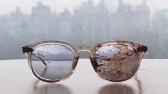 Las gafas de Lennon cuando murió