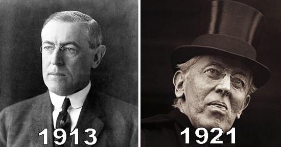 Fotos de presidentes antes y después de serlo