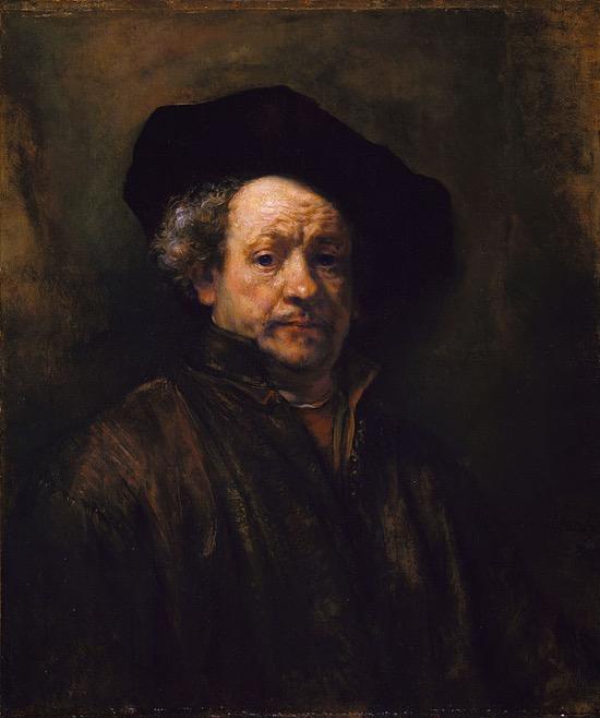 Rembrandt Autorretrato 1660