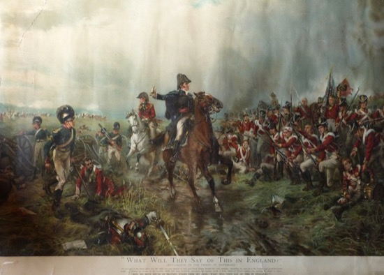 El duque de Wellington en Waterloo, de Robert Alexander Hillingford (1840)