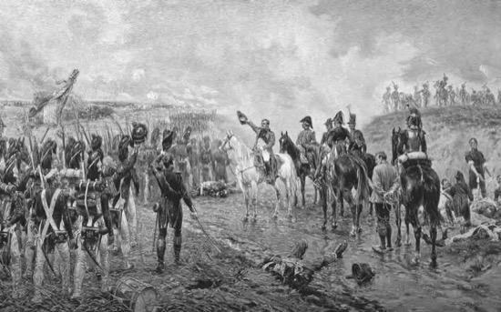 El último gran ataque de Napoleón en Waterloo, de Ernest Crofts (1895)