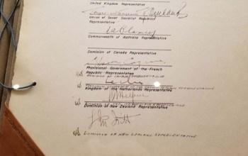 Canadá firmó en el lugar equivocado la rendición japonesa en la Segunda Guerra Mundial