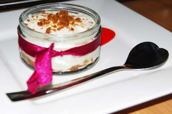 Romige cheesecake mousse