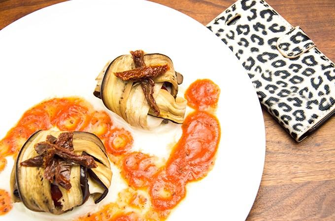 Recept Aubergine taartje met mozerella