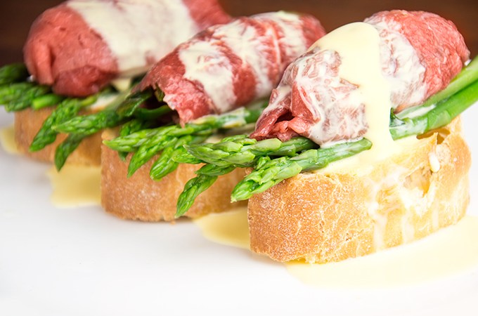Recept Carpaccio met hollandaise saus