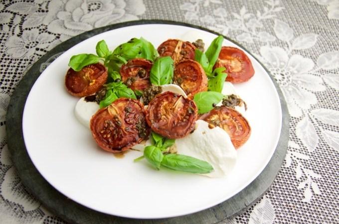 Recept Geroosterde tomaten met mozzarella
