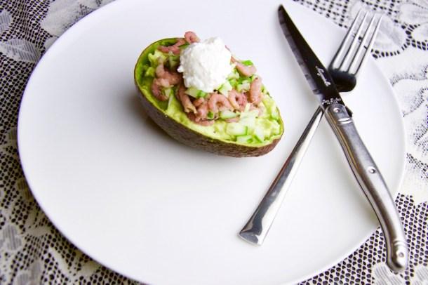 Recept Gevulde avocado met garnalen