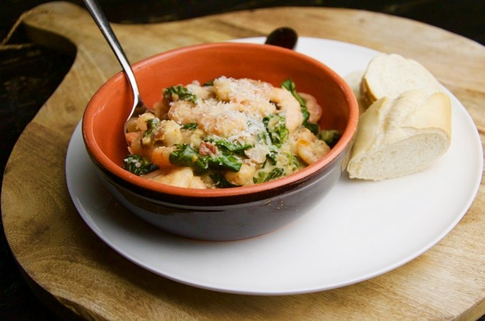 Recept Italiaanse garnalen met spinazie