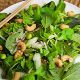 Recept Japanse salade met wasabi dressing