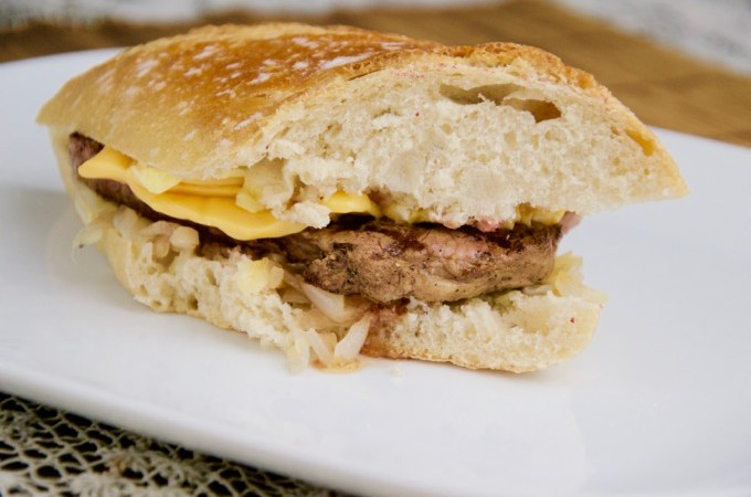 Recept Philly cheese steak