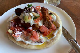 Recept Pita met Griekse salade