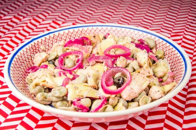 Recept Salade met artisjokken en ui