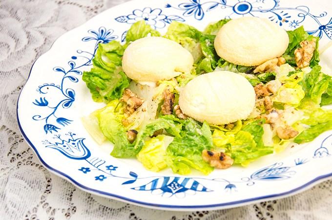 Recept Salade met geitenkaas