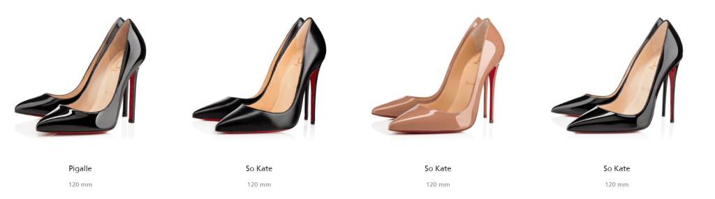 Christian Louboutin, Pigalle, So Kate, high heels