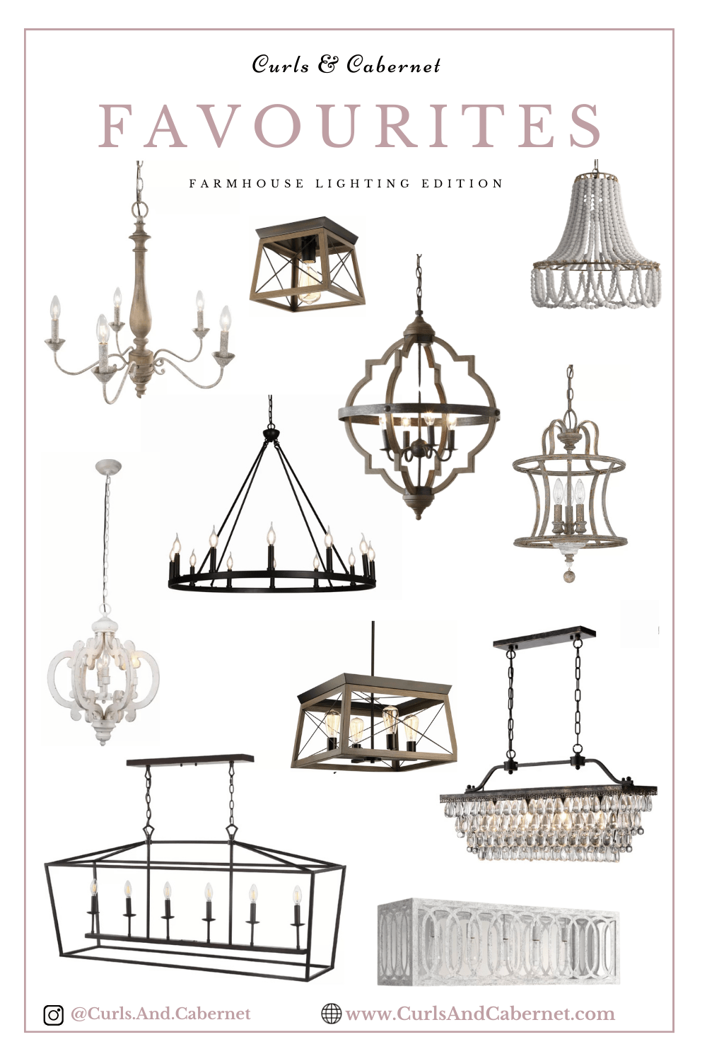 Favourite: Affordable Rustic Chic, Farmhouse Glam Lighting 2021!