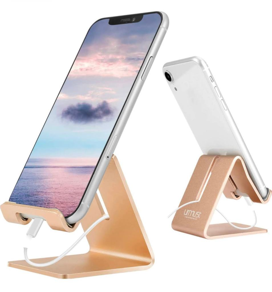 Rose gold phone stand