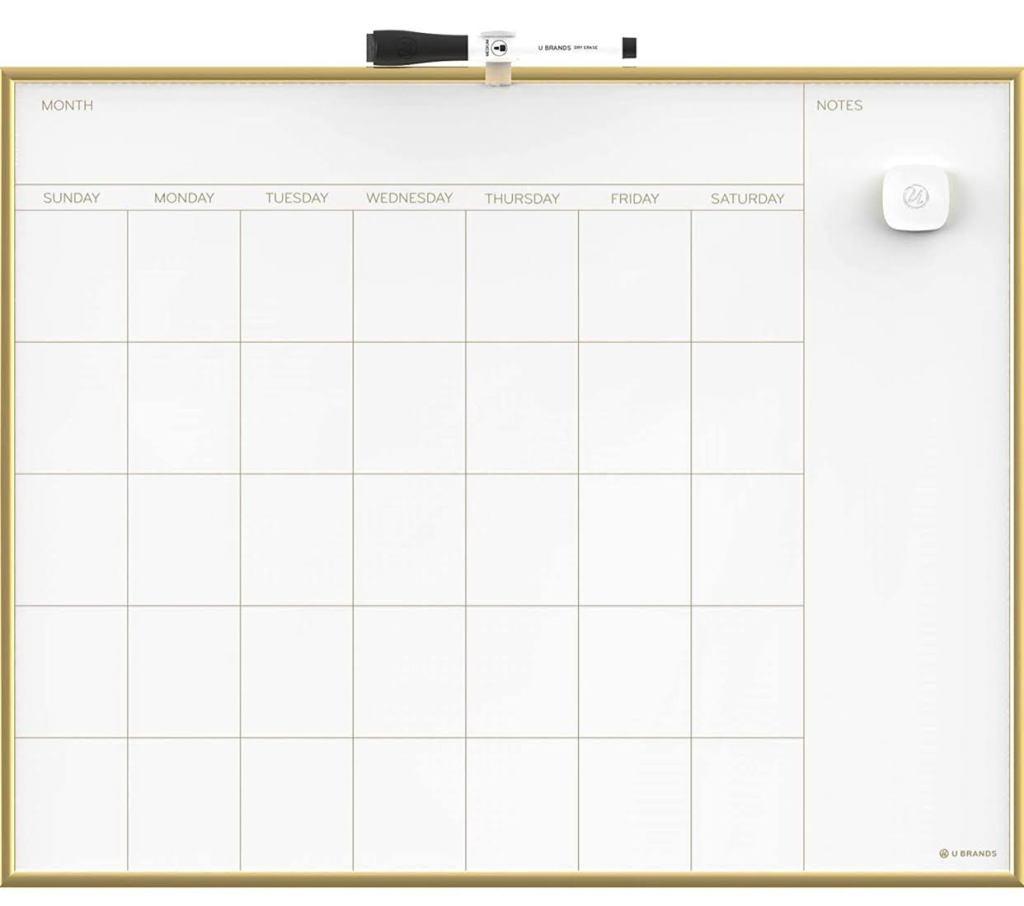 Gold Wipe Board Planner