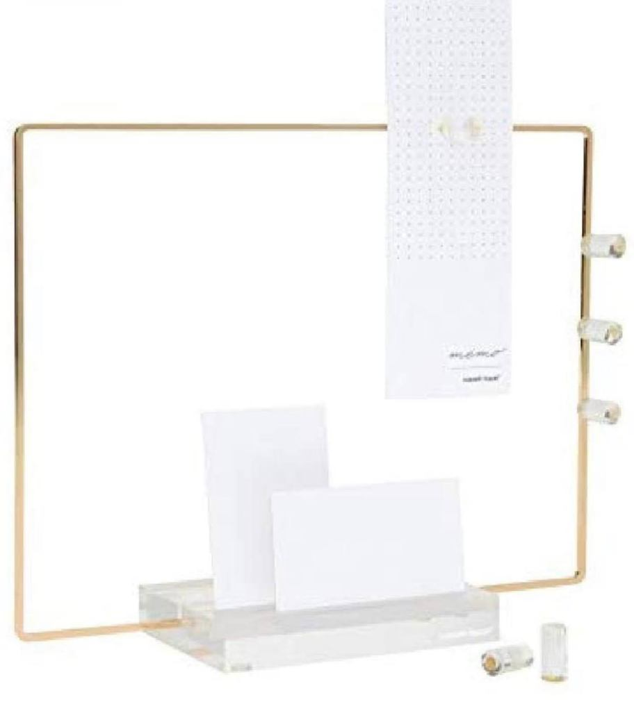 Acrylic and gold memo board, yes pls!