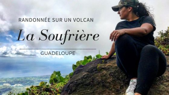 Vue depuis le haut de la soufrière en Guadeloupe