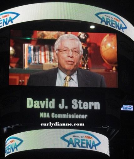 NBA Commissioner David J. Stern