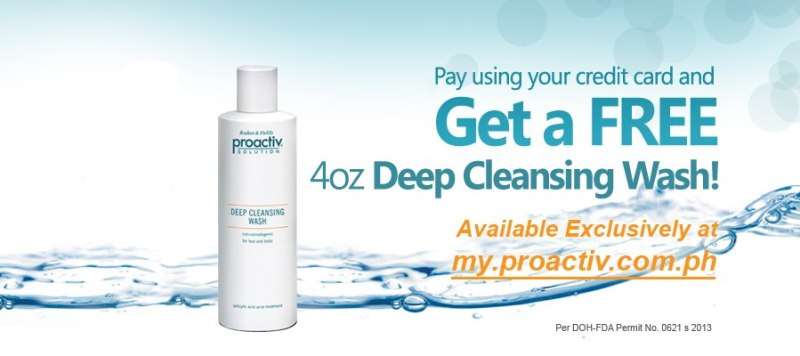 Get a Free 4oz Deep Cleansing Wash from Proactiv
