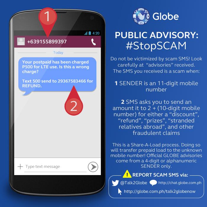 Public Advisory from Globe Telecom