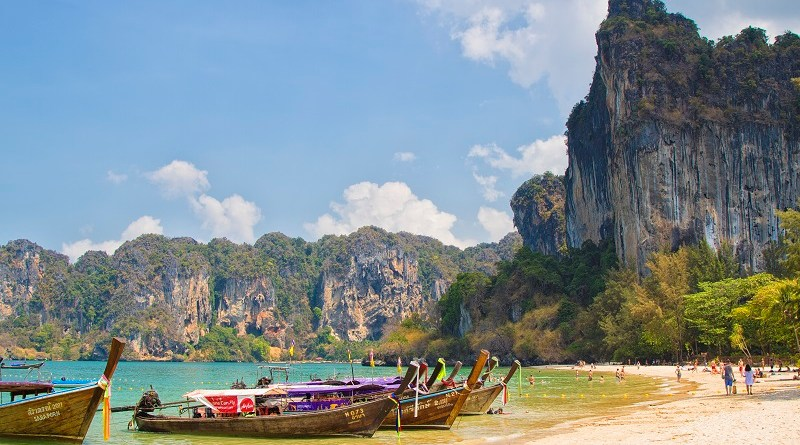 Railay Beach is perfect for those seeking a scenic and serene refuge. Photo is from the Tourism Authority of Thailand.