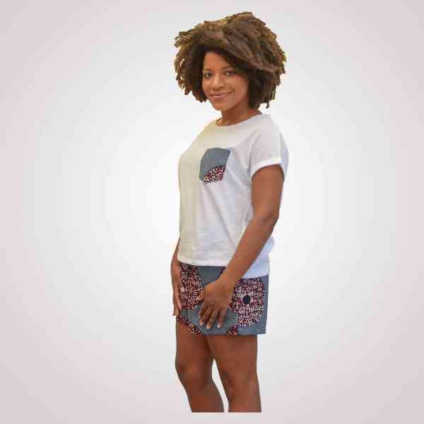 tshirt baumwolle wax girlfriend IRIS Curly Nights