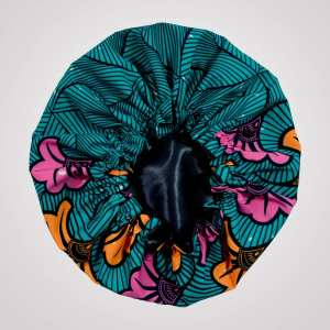 bonnet élastique wax satin curly nights OCEAN