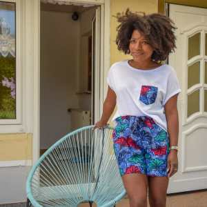 pyjama wax curly nights jungle short tshirt