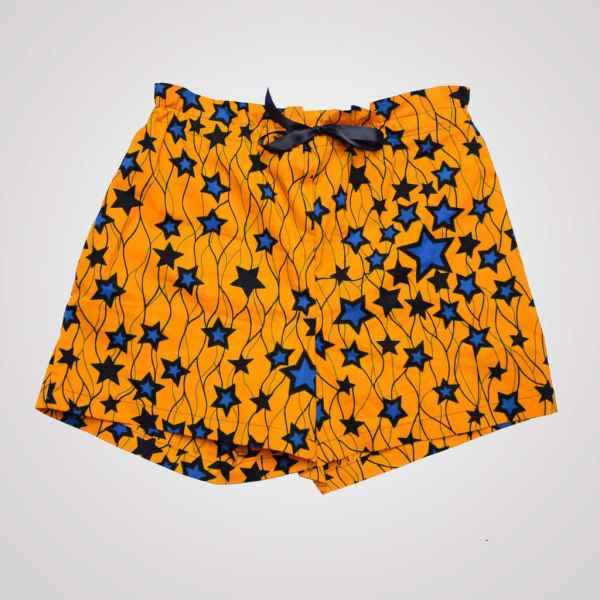 short blue star curly nights pyjama avec poches