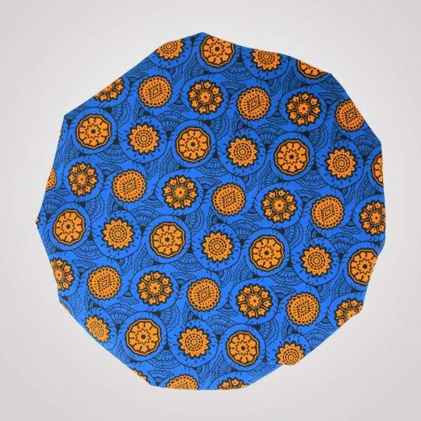 satin wax bonnet schlafhaube curly nights mandarine elastisch